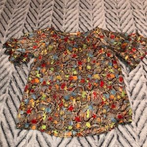 Snakeskin multi-colored shirt